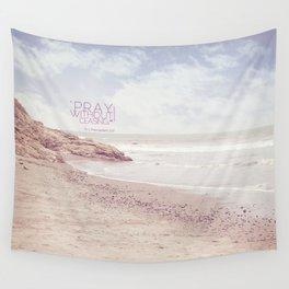 Pink Heart Beach. (Pray) Wall Tapestry