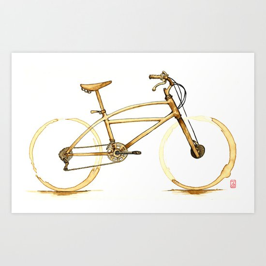 Coffee Wheels #01 Art Print