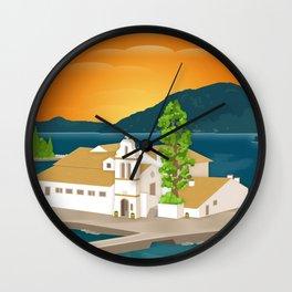 Corfu, Vlacherna Monastery (GR) Wall Clock