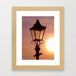 LAMPLIGHT SUNSET Framed Art Print