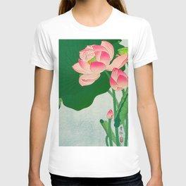 Ohara Koson Flowering Lotus 1930s Japanese Woodblock Print Vintage Historical Japanese Art T-shirt