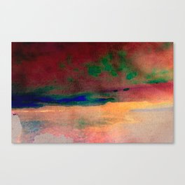 sunset/soft light/abstract/nature/sea Canvas Print