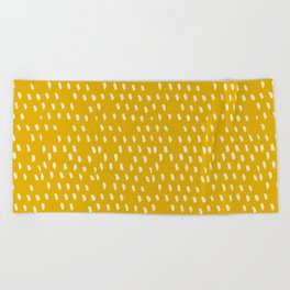 Yellow Modernist Beach Towel