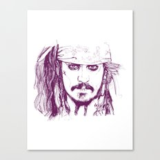 Captain Jack - Pirates of the Caribbean Canvas Print