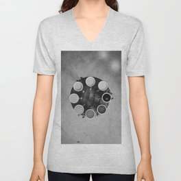Coffee Circle (Black and White) Unisex V-Neck