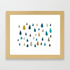 raindrops - green Framed Art Print