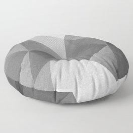 Grey polygonal geometric pattern . Floor Pillow