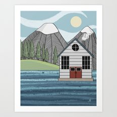 Greetings from Powell River Art Print