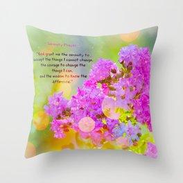 Serenity Prayer - II Throw Pillow