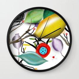 Cinque Terre - Lemons Lemon - Italian Riviera - Limoni Lemon Pattern Home Decor Wall Clock