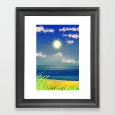 Strand '& Meer&Himmel. Framed Art Print
