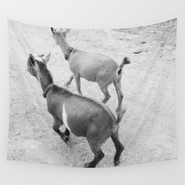 pet goats Wall Tapestry