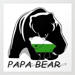 Papa Bear Neutrois Art Print
