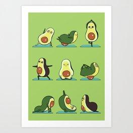 Avocado Yoga Art Print