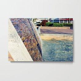 Waterfall Wall Version 2 Metal Print