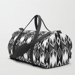 B&W Ikat #society6 #ikat Duffle Bag