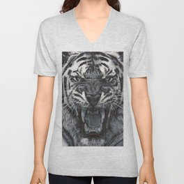 Tiger Roar! - By Julio Lucas Unisex V-Neck