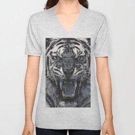 Tiger Roar! - By Julio Lucas Unisex V-Neck