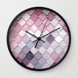 rosa pattern Wall Clock