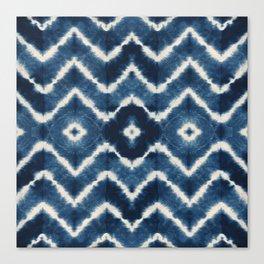 Shibori, tie dye, chevron print Canvas Print