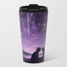 Lovers Under A Starlit Sky Metal Travel Mug