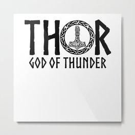Nordic Gods Thor God Of Thunder Metal Print