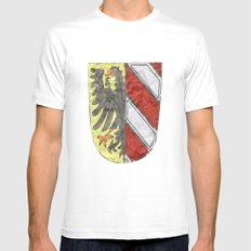 Nuremberger Heraldry Watercolor MEDIUM Mens Fitted Tee White