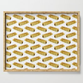Sausage Roll Polka Dot Pattern Serving Tray