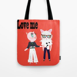 Love Me Fashionista cats Tote Bag