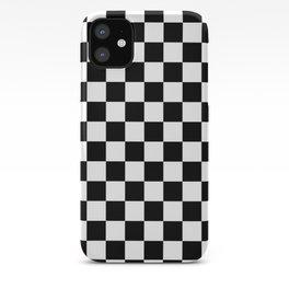 black checkered pattern iPhone Case