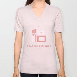 #WorkerEssentials - Graphic designer Unisex V-Neck