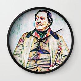 Gioachino Antonio Rossini (1792 – 1868) (digitized photography from 1865) Wall Clock