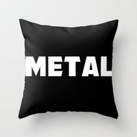 metal Throw Pillows featuring Metal by Department M