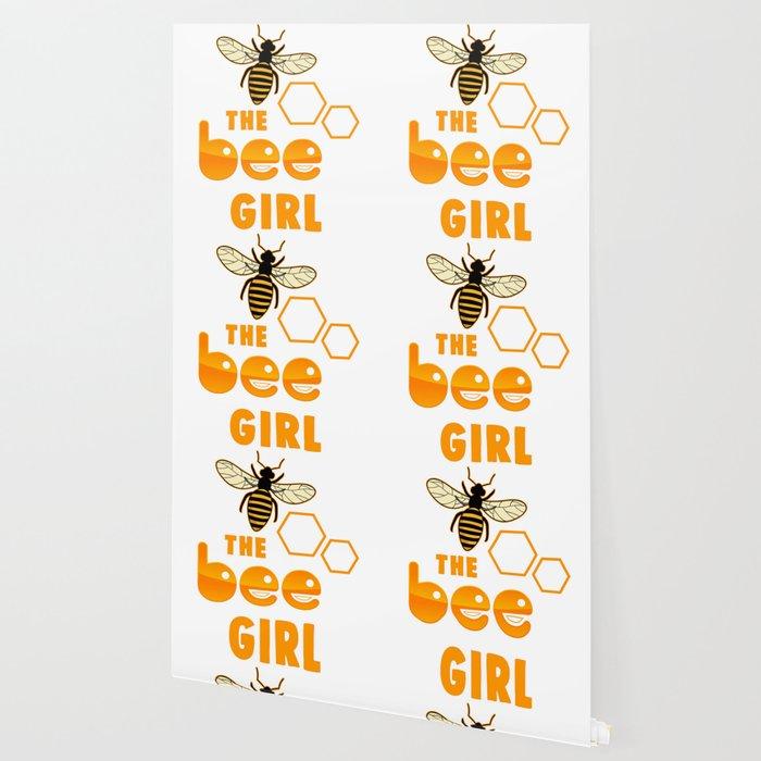 The Bee Girl Honey Beekeeper Wallpaper