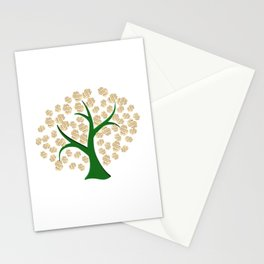 Golden dollars tree Stationery Cards