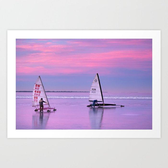 Windsurfing Winnebago Art Print