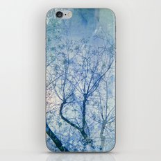 Blue Winter Blossoms  iPhone Skin
