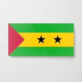 Sao Tome And Principe Flag Metal Print