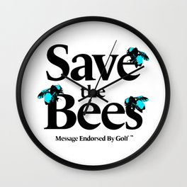 SAVE THE BEES - GOLF WANG Wall Clock
