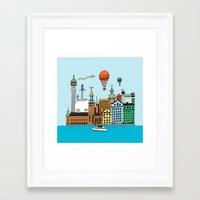 stockholm Framed Art Prints featuring Stockholm by Adam Lindfors