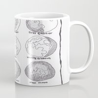moon phases Mugs featuring Moon Phases by Emilie Darlington