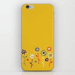 doodle flowers iPhone Skin