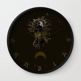 Amber Owl Wall Clock