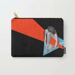 Black and White Picture of a woman - Collage art Carry-All Pouch