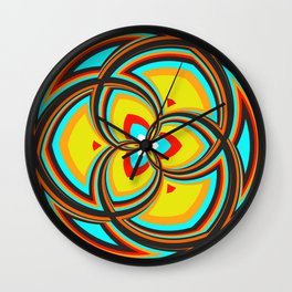 Spiral Rose Pattern A 2/4 Wall Clock
