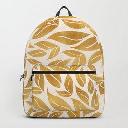 Golden Leaf Mandala Backpack