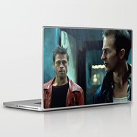 brad pitt Laptop & iPad Skins featuring Edward Norton and Brad Pitt by Gabriel T Toro