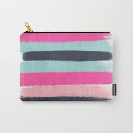 Abstract minimal painted stripes pattern basic nursery gender neutral decor gifts Carry-All Pouch