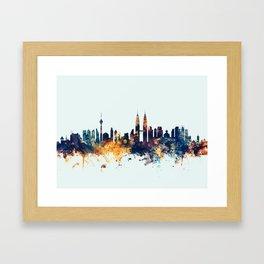 Kuala Lumpur Malaysia Skyline Framed Art Print
