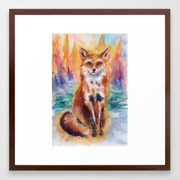 Dreamscape Oasis Fox Framed Art Print